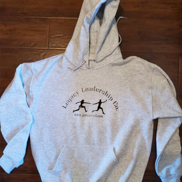Legacy Leadership Co. gray hoodie