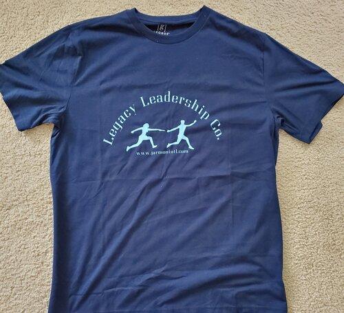 Legacy Leadership Co. blue t-shirt