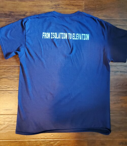 From isolation to elevation t-shirt